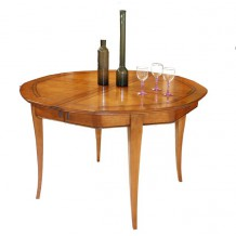 "Table Octogonale merisier massif ""Bertille"" 120cm"