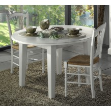 Table de repas ronde &quot;Venise&quot; 118cm