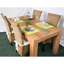 "Table rectangulaire en teck massif brossé ""Bornéo"" Casita  180cm"
