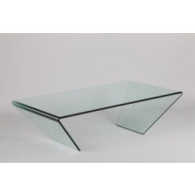 "Table en verre moderne ""Cléo"""