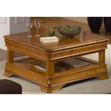 "Table basse carrée Merisier massif ""Jeanne"""
