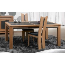 "Table de repas chêne 2 allonges ""Apollon"" 160cm"