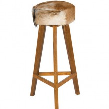 Tabouret de bar fourrure naturel &quot;Nature&quot;
