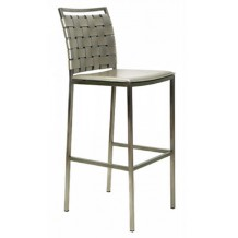 Tabouret de bar moderne gris argent &quot;Uranus&quot;