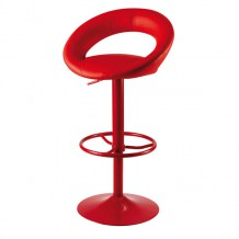 Tabouret de bar rouge Louise