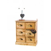 Commode 6 tiroirs pin massif