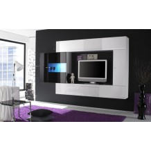 Meuble tlvision moderne noir/blanc &quot;Juno&quot;