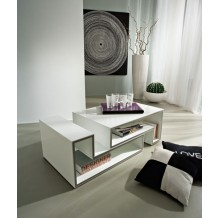 "Table basse moderne blanche ""Cube"""