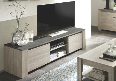 Television guide d 39 achat for Meuble en orme blanchi
