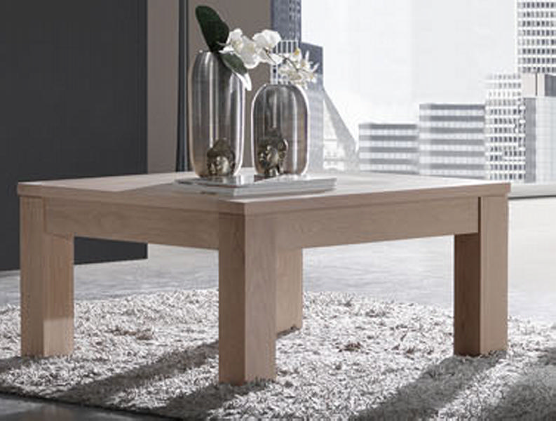 Table basse carr e ch ne massif clara - Table basse carree chene massif ...