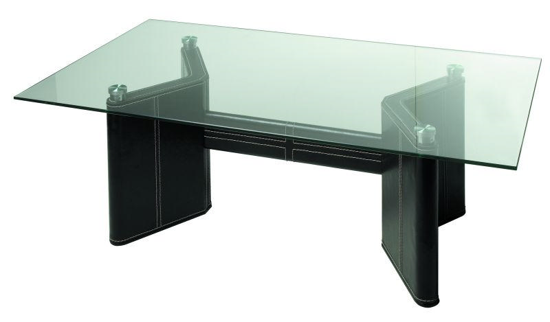 table basse en verre cuir center. Black Bedroom Furniture Sets. Home Design Ideas