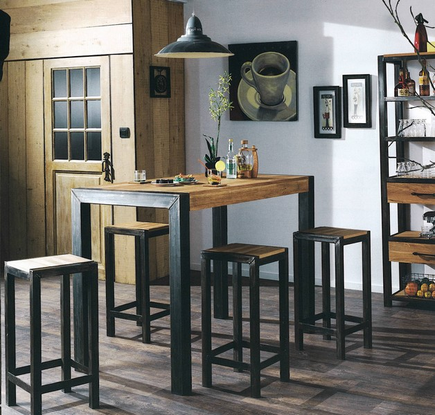 prix des table bar. Black Bedroom Furniture Sets. Home Design Ideas