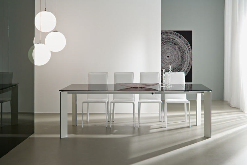 Table cuisine - Table moderne en verre ...