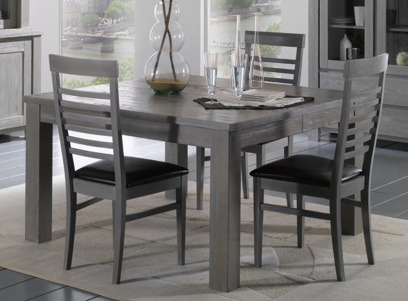Table salle manger carree grise - Table carree salle a manger design ...
